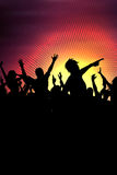 Party crowd background. Silhouette of a party crowd Stock Photo