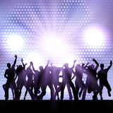 Party crowd background. Silhouette of a party crowd Stock Images
