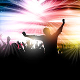 Party crowd background. Silhouette of a party crowd on an abstract background Stock Photo