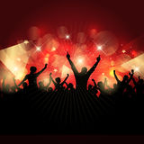 Party crowd background Stock Photo