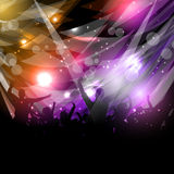 Party crowd background. Silhouette of a party crowd on an abstract background Royalty Free Stock Image