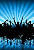Party Crowd Design stock images