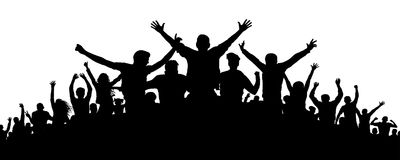 Party crowd people silhouette. Party crowd people silhouette, vector stock illustration