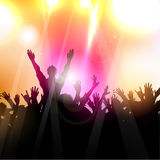 Party crowd. Silhouette of a party crowd on an abstract background Stock Photography