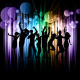 Party crowd. Silhouette of a party crowd on an abstract background Royalty Free Stock Image