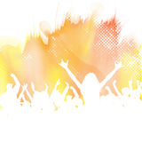 Party crowd on a watercolour background Royalty Free Stock Photos