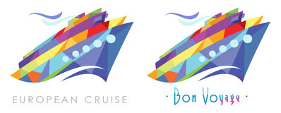 Party Cruise Logo Stock Photos