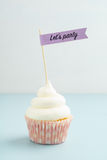 Party cupcake with buttercream Stock Image