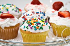 Party Cupcakes Stock Photos