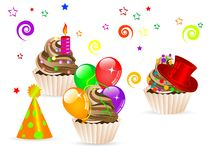 Party cupcakes Royalty Free Stock Images