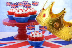 Party cupcakes with UK flags Stock Image