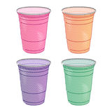 Party Cups Pastel Colours Pencil Style Royalty Free Stock Photography