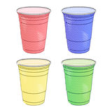 Party Cups Pencil Style Royalty Free Stock Image