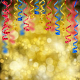 Party curling stream paper Stock Images