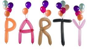 Party défini avec des ballons d'isolement sur le blanc Image stock