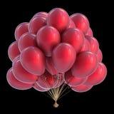 Party da decoração vermelha do aniversário do grupo dos balões moderno colorido Ilustração do Vetor