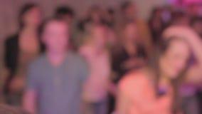 Party on the dance floor, people enjoying nightlife, nightclub. Stock footage stock video