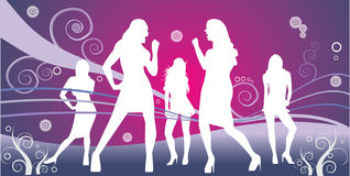 Party dance woman Royalty Free Stock Photo