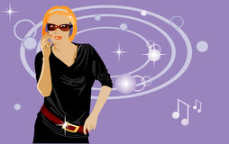 Party dancer vector illustration