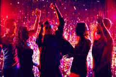 Party dancers Royalty Free Stock Photos