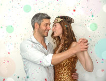 Party dancing adult couple Royalty Free Stock Photos