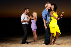 Party and dancing at the beach Royalty Free Stock Image