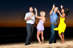 Party and dancing at the beach Royalty Free Stock Images