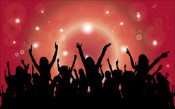 Party Dancing Crowd with Room For Your Text Royalty Free Stock Photos