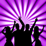 Party Dancing Means Disco Music And Celebration Royalty Free Stock Photo