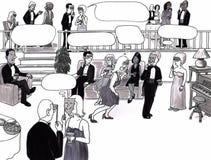 Party, Datierung, Gedankenluftblasen. Lizenzfreie Stockfotografie