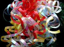 Party Decoration. Colorful curly ribbons as party decoration Royalty Free Stock Photography