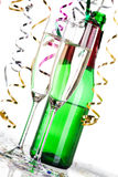 Party decoration. With sparkling wine glasses Royalty Free Stock Photo