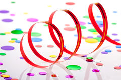 Party decoration. On white background Stock Photography