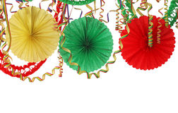 Party decoration. Isolated on white background Royalty Free Stock Photos
