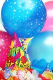 Party decoration. Closeup of birthday party decorations Royalty Free Stock Photography