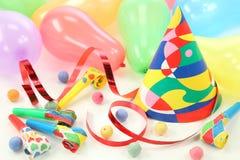 Party decoration. Isolated on white background stock photo