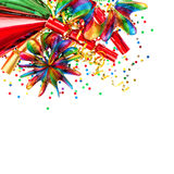 Party decoration with garlands and confetti Stock Photography