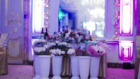 Party decoration in palace. Party decoration in luxury palace stock footage