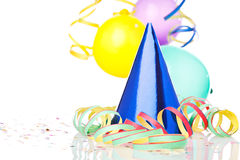Party decoration on white Royalty Free Stock Image