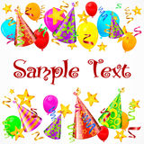 Party decorations background Royalty Free Stock Photos