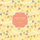 Party Decorations Bunting Frame Seamless Pattern. Vector Party Decorations Bunting Frame Seamless Pattern Background with triangular bunting and stars in shades Royalty Free Stock Photography