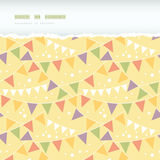 Party Decorations Bunting Horizontal Torn Seamless Stock Photos