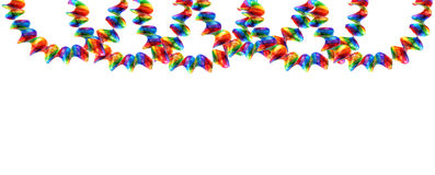 Party decorations garland isolated on white Stock Photography
