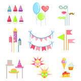Party Decorations Set Stock Photography