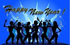 Party des neuen Jahres lizenzfreie abbildung
