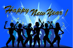 Party des neuen Jahres Stockfoto