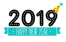 Vector happy new year colorful design stock photos