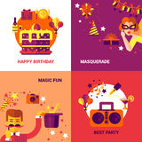 Party Design Concept Set Stock Photography