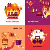 Party Design Concept Set Stock Photography