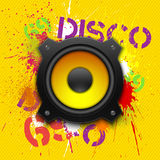 Party design element with speaker. Royalty Free Stock Photo
